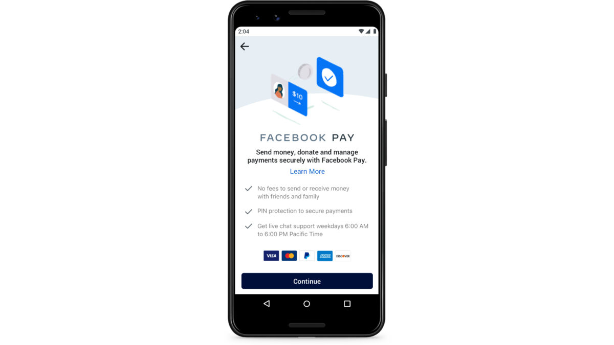 Facebook Pay UI