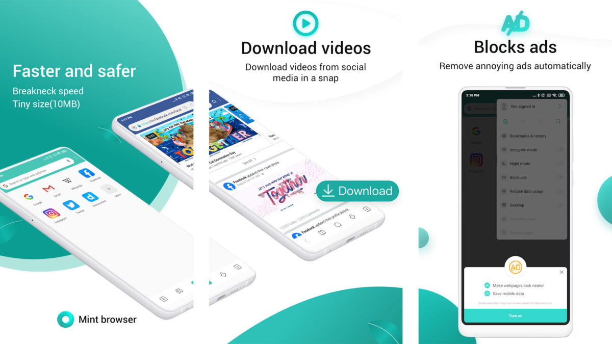 Mint Browser 2019 screenshot best android apps 2019