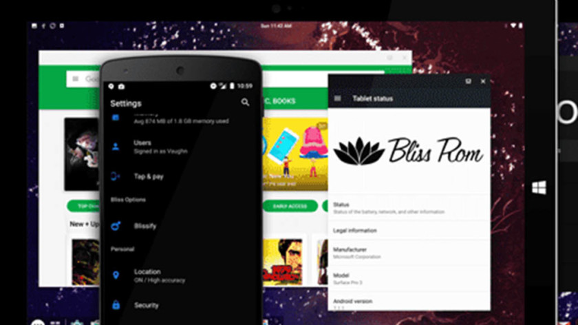 Bliss - best android emulators for pc