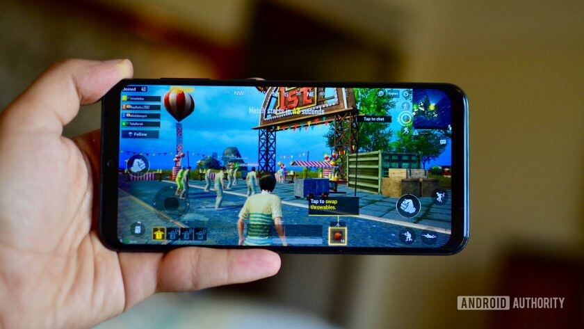 Samsung Galaxy A50 playing PUBG one of the best free Android games