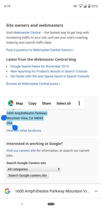 Chrome use phone numbers emails and addresses 2