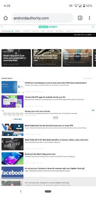 request desktop site on Chrome 3