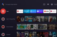 OnePlus TV running default Android TV interface