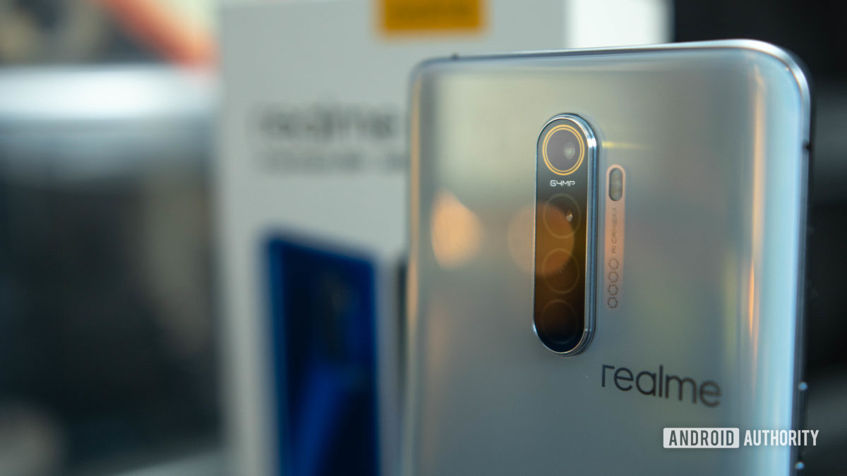 Realme X2 Pro rear shot of the quad camera