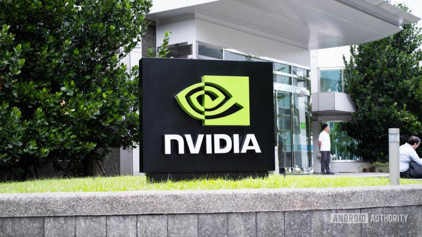 NVIDIA logo outside