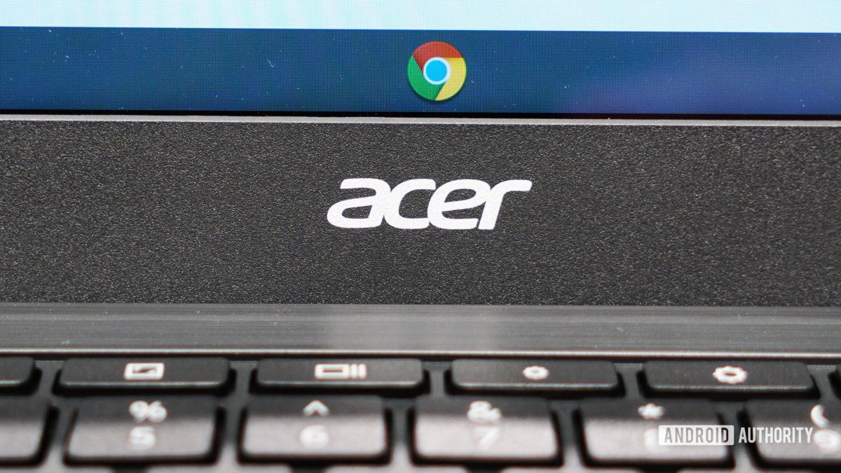 Acer logo with Chrome logo
