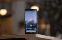 Pixel 3a screen standing on table
