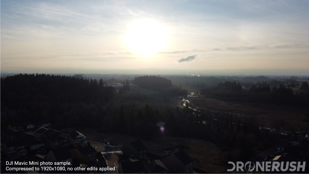 DJI Mavic Mini photo sample sun flare