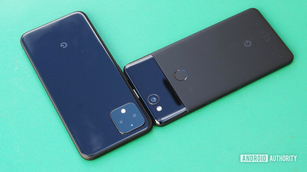 Google Pixel 2 vs Pixel 4 design
