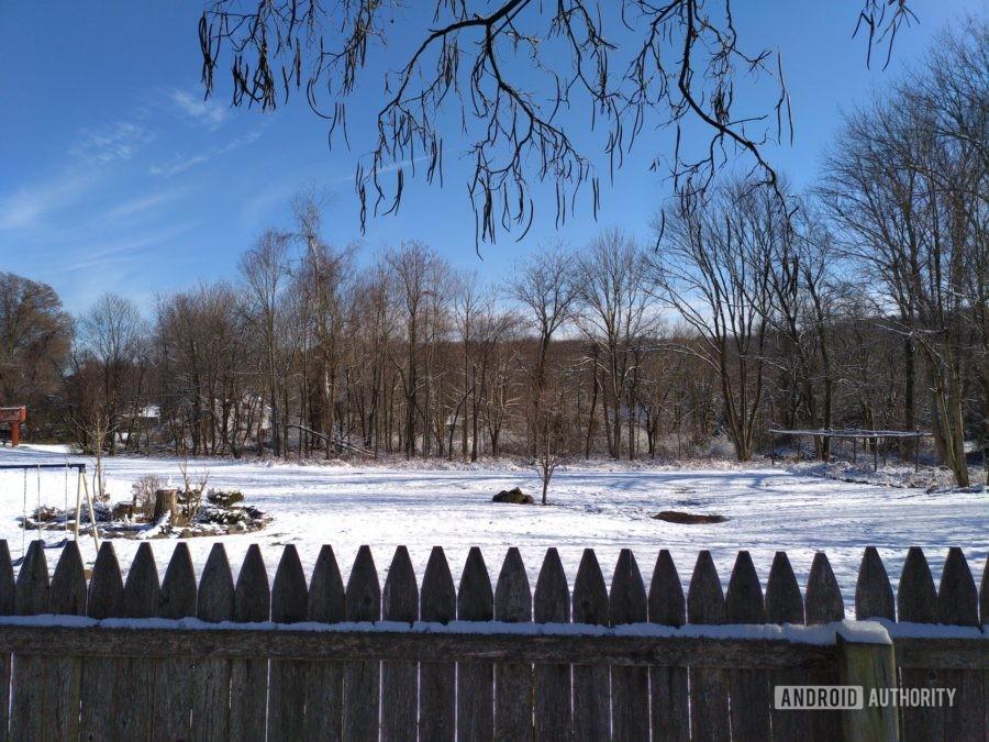 Fxtec Pro1 review camera sample snowscape