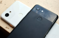 Google Pixel 3a vs Pixel 3 back of phones crossed