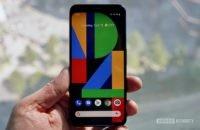 Google Pixel 4 black with the vessel