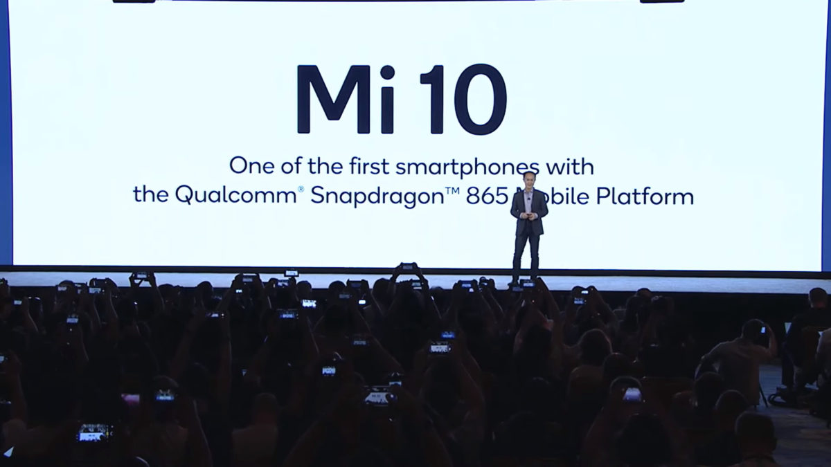 The Xiaomi Mi 10 will be one of several Snapdragon 865 phones.