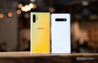 Samsung Galaxy Note 10 Plus back vs Samsung Galaxy S10 Plus 2