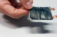 A foldable battery.