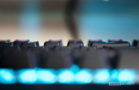 Keyboard Focus Closeup Typing