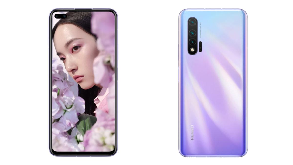 A composite of the Huawei Nova 6 5G