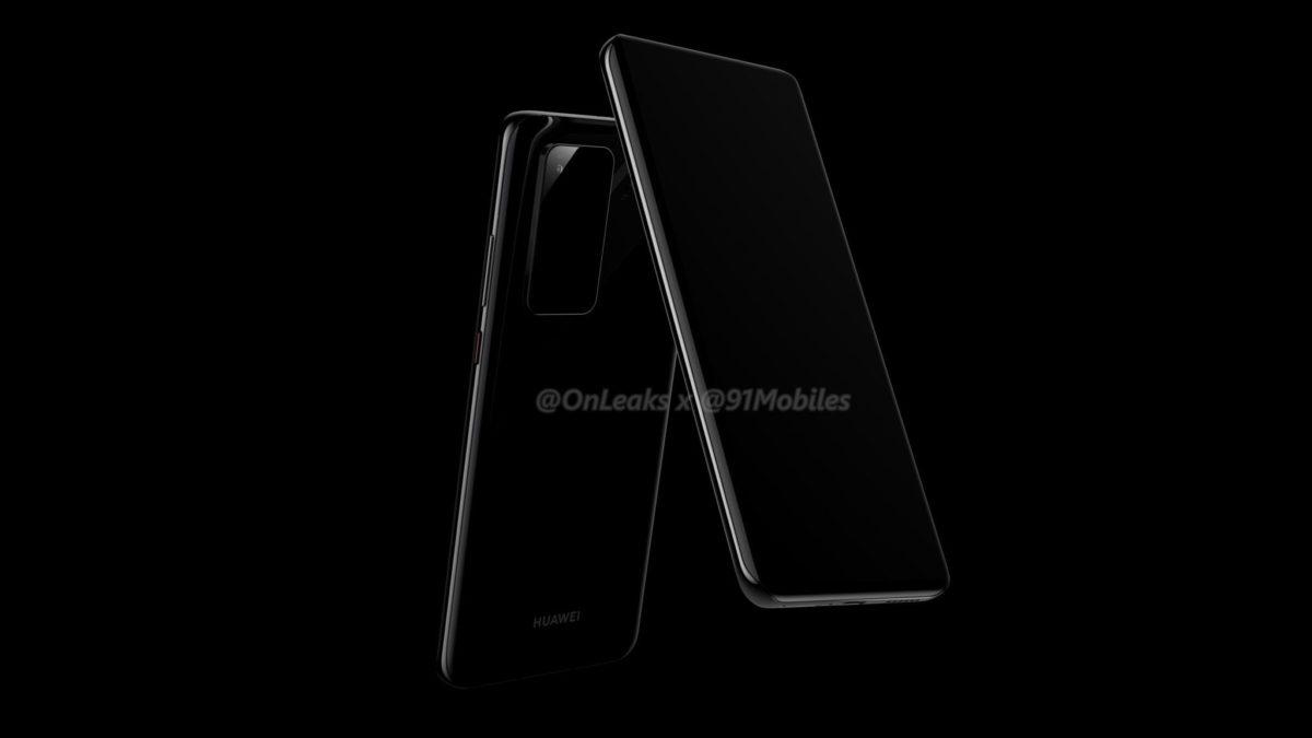 Huawei P40 Pro REnders OnLeaks 1