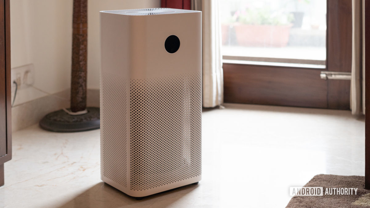 Mi Air Purifier 3 front angled shot of air purifier