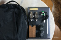 A backpack, Pixel 3 phone, two watches, and other daily essentials that Adam always uses.