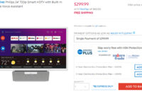 Philips compact kitchen smart TV running Android TV and Google Assistant on sale