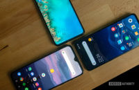 OnePlus 7 and Xiaomi Mi 9 and Asus Zenfone 6 displays
