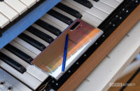 Samsung Galaxy Note 10 Plus back on piano