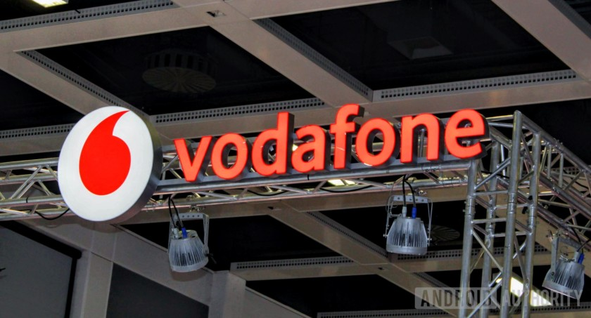 Vodafone logo from IFA 2018.