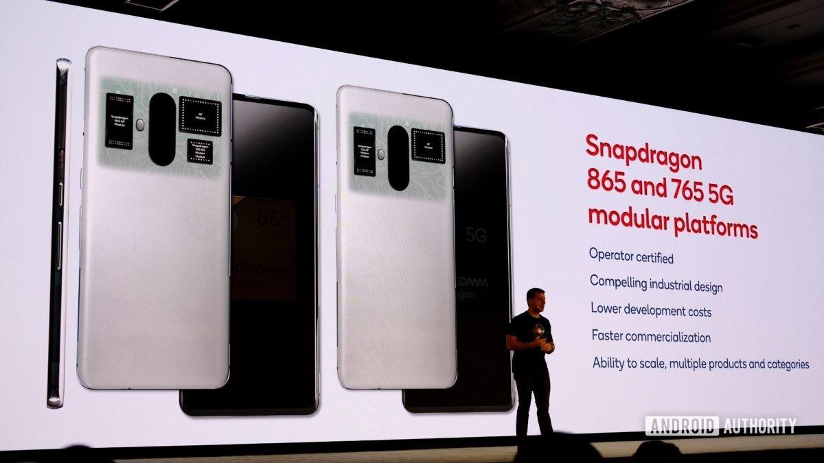Snapdragon 865 and 765 5G modular platforms slide