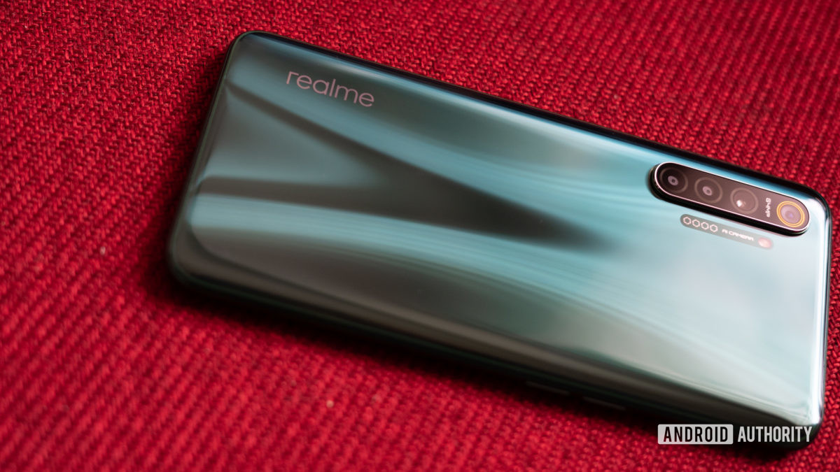 Realme X2 with realme logo visible