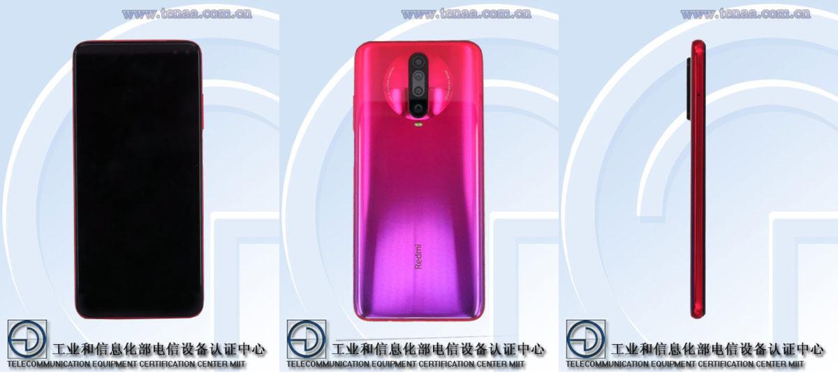 The Xiaomi Redmi K30 4G on TENAA.