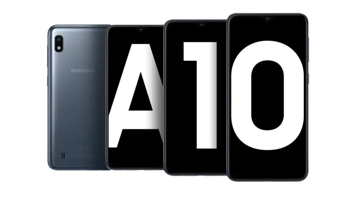The Samsung Galaxy A10.