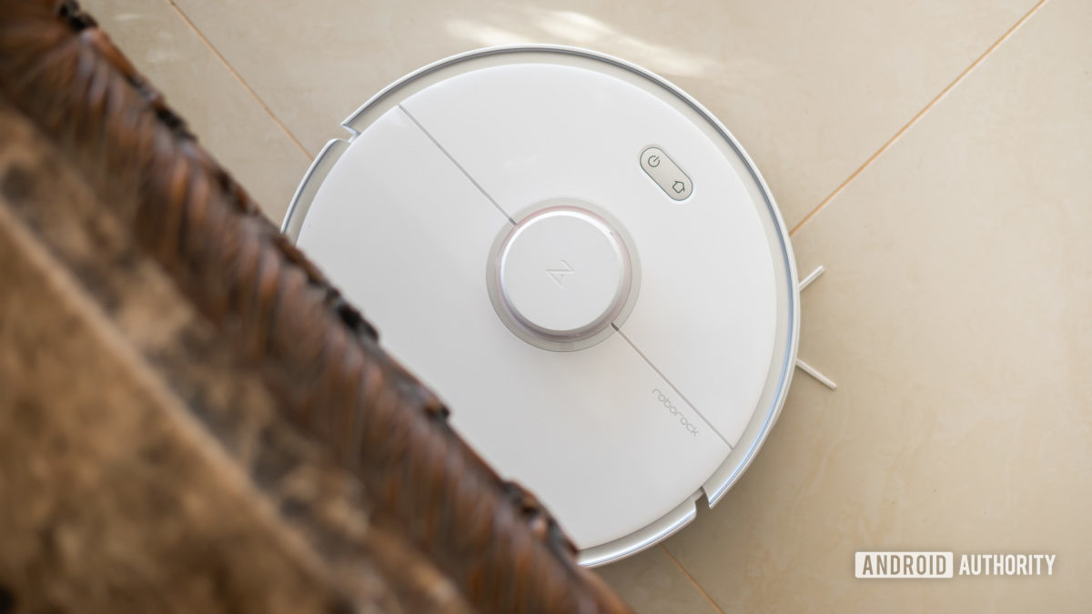 Roborock S5 Max robot vacuum cleaning under table 6