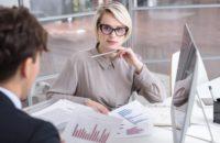 marketing analytics meeting in office