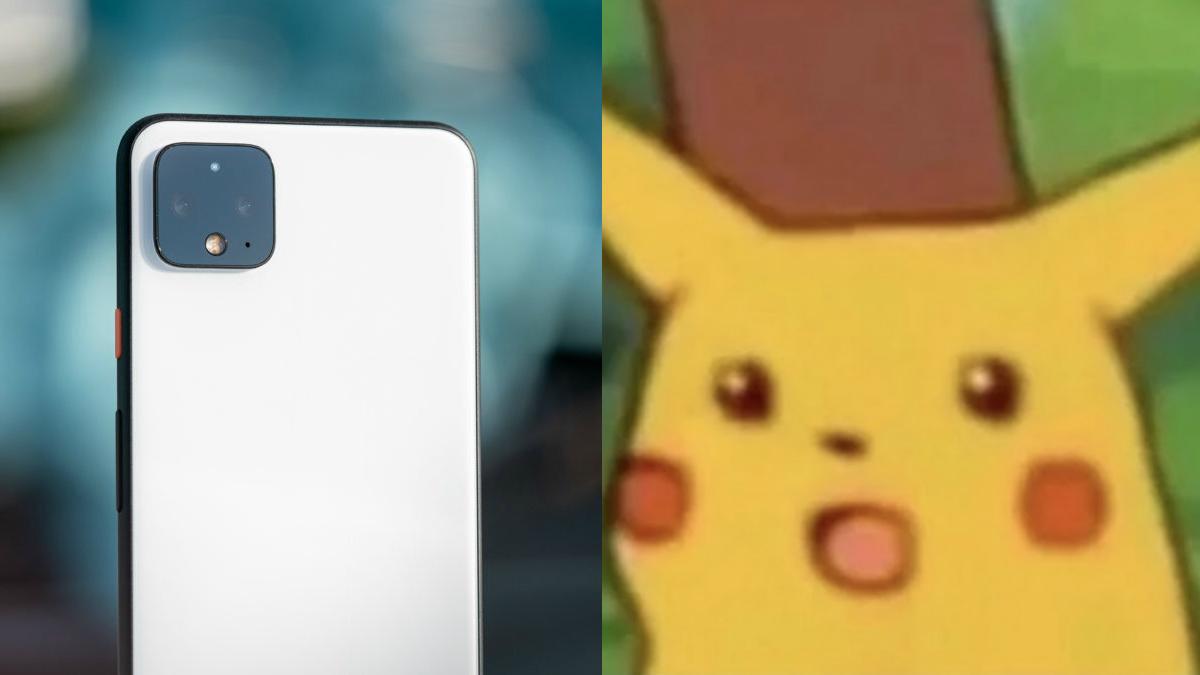Google Pixel 4 surprised pikachu