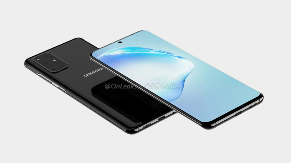 The apparent Samsung Galaxy S11 renders.