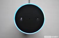 Top-down image of the Amazon Echo.