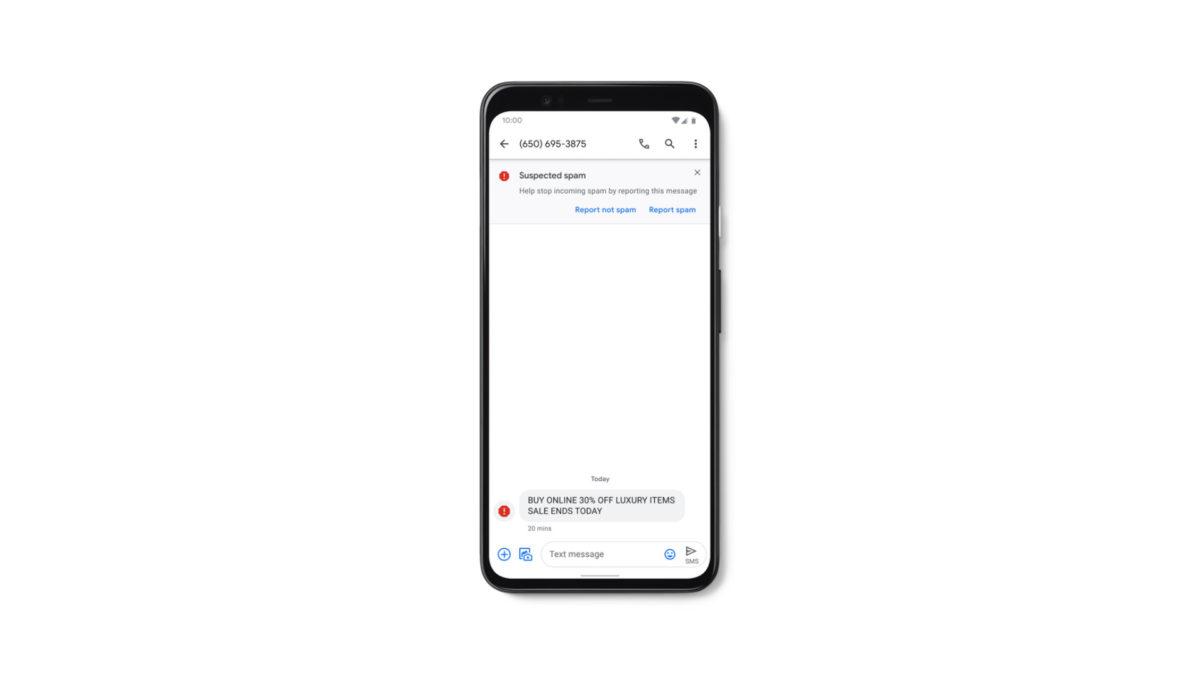 Google Messages Spam Detection