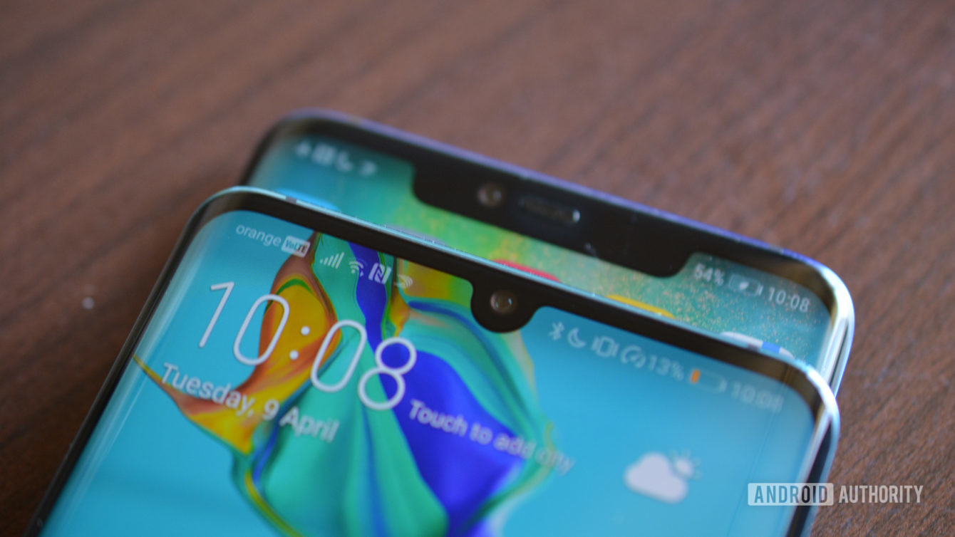 Huawei P30 Pro and Mate 30 Pro notches - smartphones in 2020