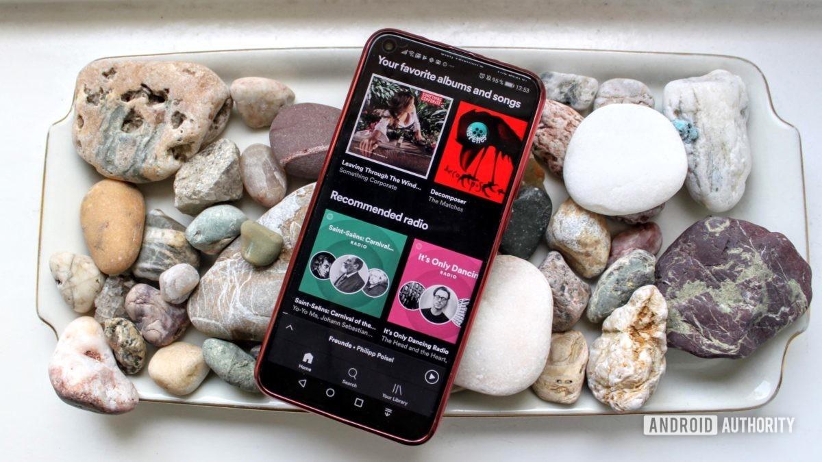 smartphones in 2020 - smartphone on a bed of rocks
