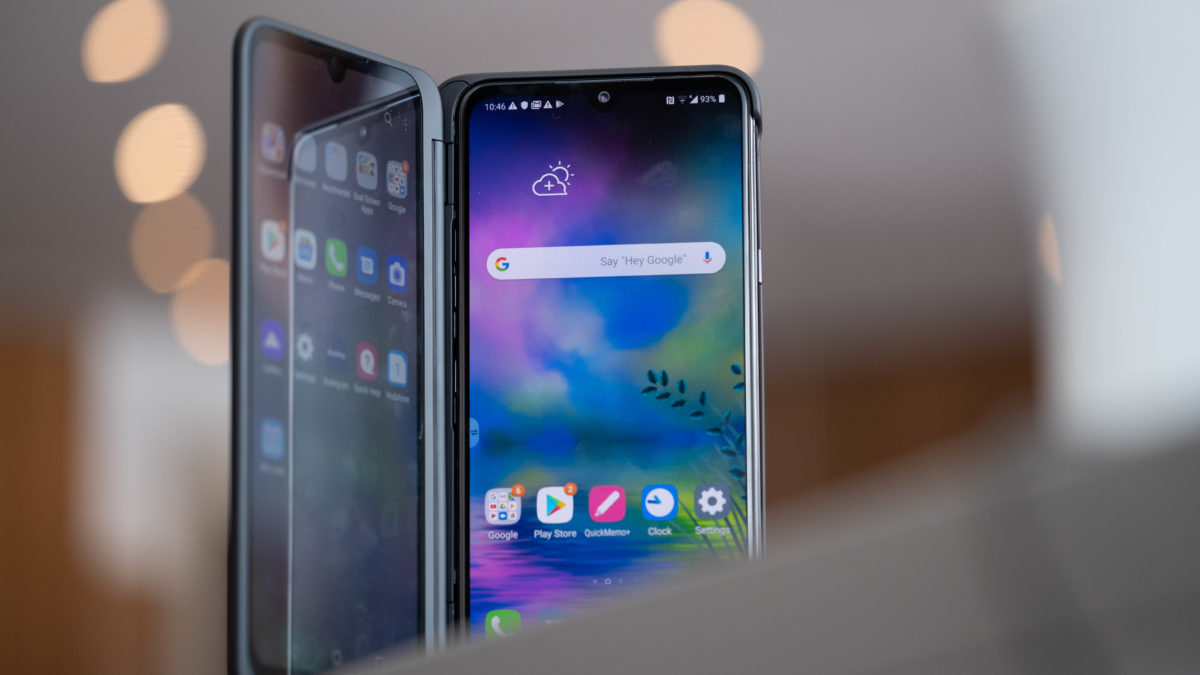 LG G8X ThinQ open on table 4