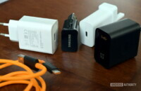 Samsung, Huawei, OnePlus, and Google phone chargers side by side