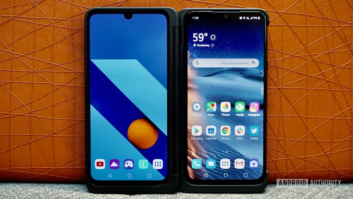 LG G8X ThinQ Review leaning on sofa