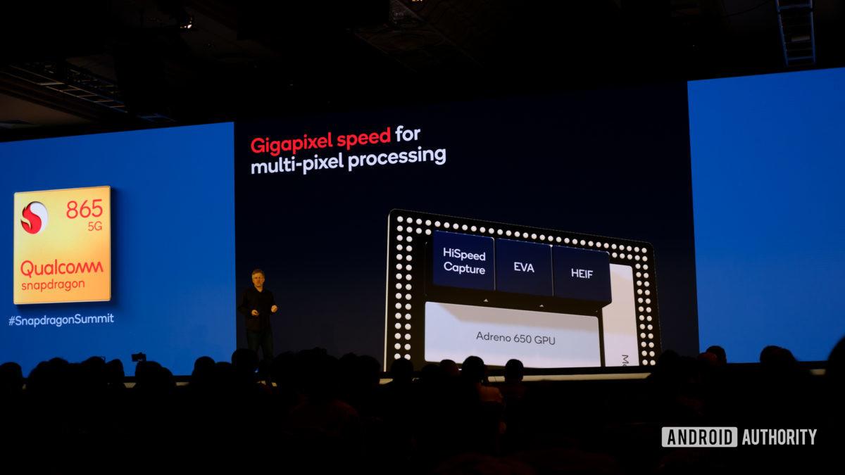 Qualcomm Snapdragon 865 gigapixel processing slides