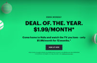 Hulu's Black Friday deal.