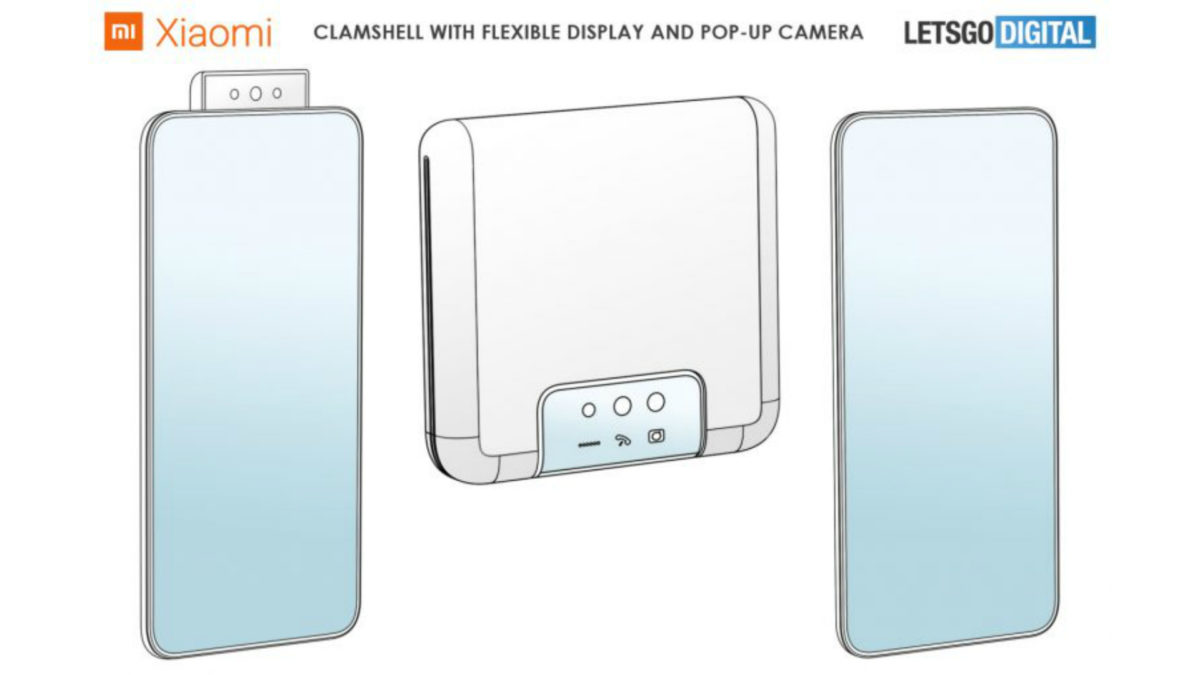 Xiaomi foldable clamshell patent 2