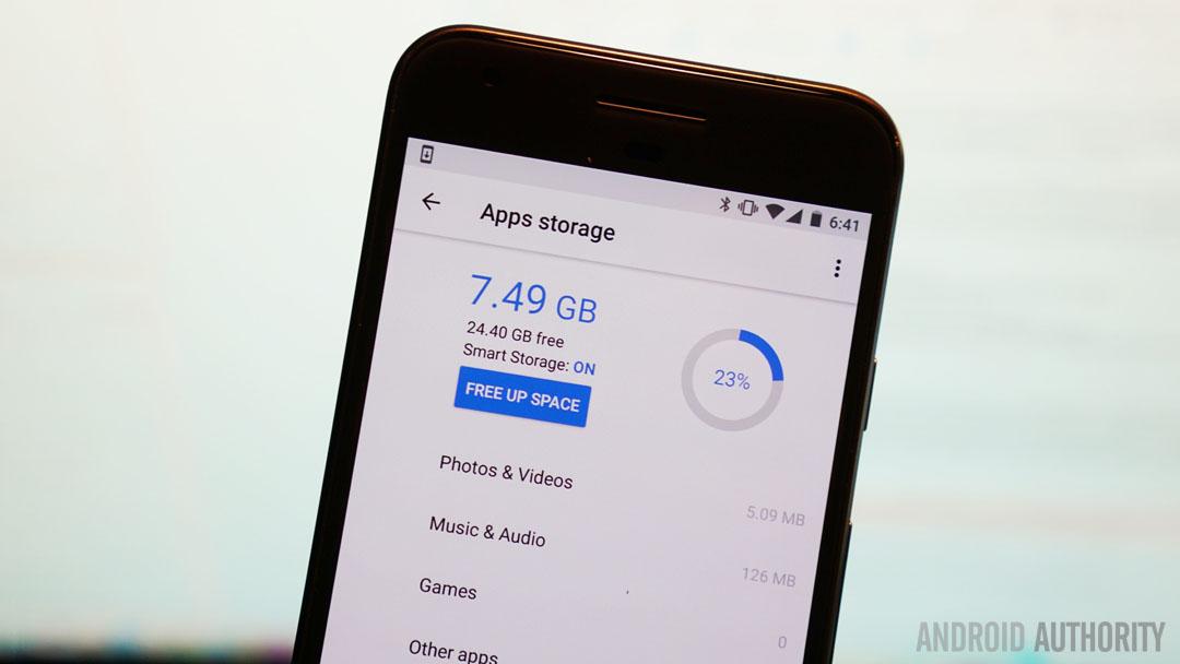 App Storage Screen