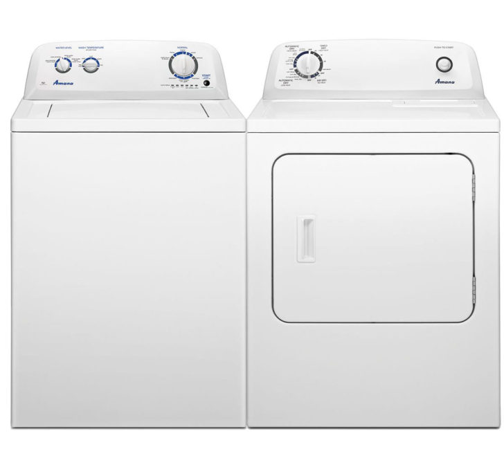 0018276 amana top load washer dryer pair 1200