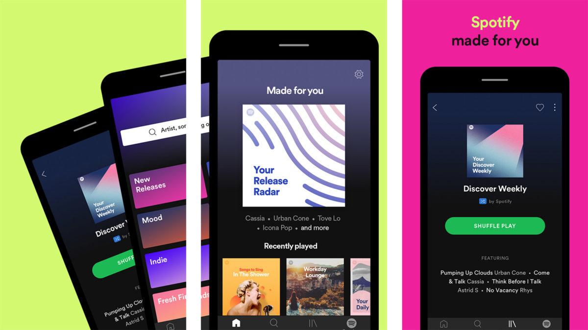 Spotify screenshot 2020