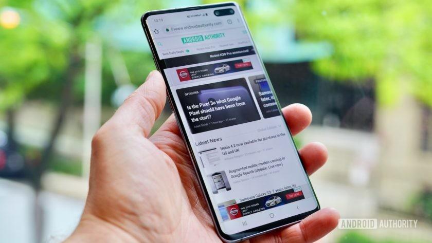 Samsung Galaxy S10 5G Verizon Wireless left profile